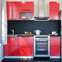 Кухонный гарнитур Красный глянец 1.5м