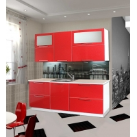 Модульный кухонный гарнитур Красный глянец
