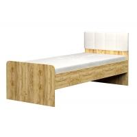 Кровать 0.8*1.9 с мягкой спинкой