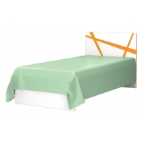 Кровать Дельта 0,9 оранж