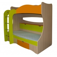 Кровать 2-х ярусная с ящиками Почемучка