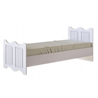 Кровать 80*190 Винтаж с настилом (белый)