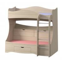 Кровать 2-х ярусная с ящиками Почемучка Шимо светлый