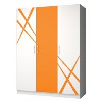 Шкаф 3-створчатый Дельта оранж