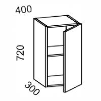 Шкаф навесной 400 (МДФ арт фиолет) Мрамор 2