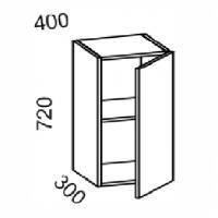 Шкаф навесной 400 (МДФ арт шоколад) Мрамор 2