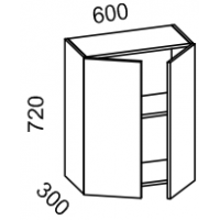 Шкаф навесной 600 (МДФ арт шоколад ) Мрамор 2