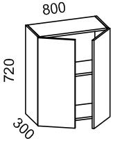 Шкаф навесной 800 (МДФ арт шоколад) Мрамор 2