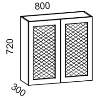 Шкаф навесной 800 с перфорацией (Бирюза)