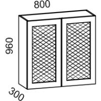 Шкаф навесной 800 с перфорацией высота 960 (Кофе)