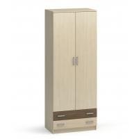 Шкаф для одежды и белья 2х-дверный с 2 ящиками Аист