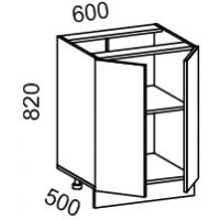 Тумба рабочая 600 (МДФ арт Фиолет) Мрамор 2