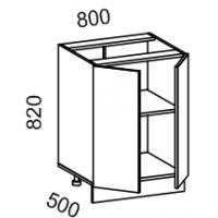 Тумба рабочая 800 (МДФ арт фиолет) Мрамор 2